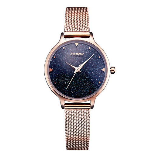 Hardlex Alloy Round Quartz Starry Sky Water Resistant Watches