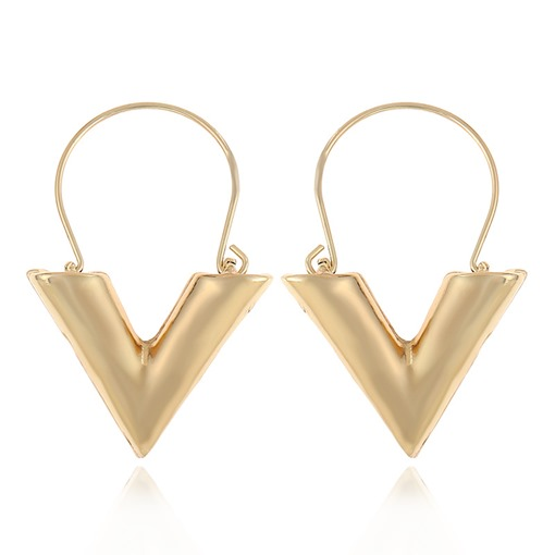V Type Alloy Simple Geometric Earrings