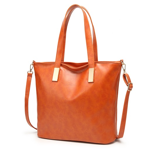 Occident Style Simple Solid Color Tote Bag
