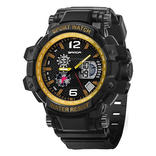 LED Luminous Multifunctional Plastic Sports Men's Watches