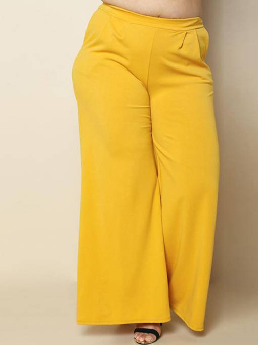 Loose Plus Size Pocket Women's Palazzo Pants
