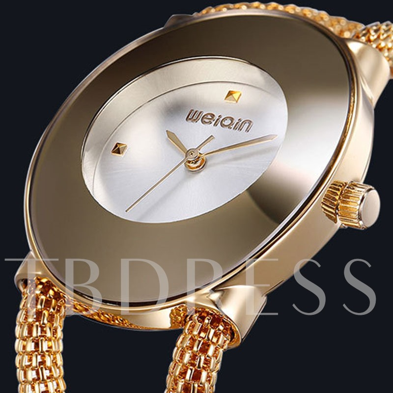 Hollow Out Stainless Steel Quartz Alloy Glass Watches