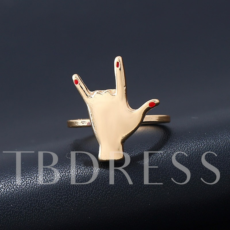 Personalized Red Nail Polish Finger Ring