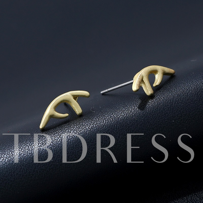 Overgild Alloy Antlers Design Personalized High Quality Earrings