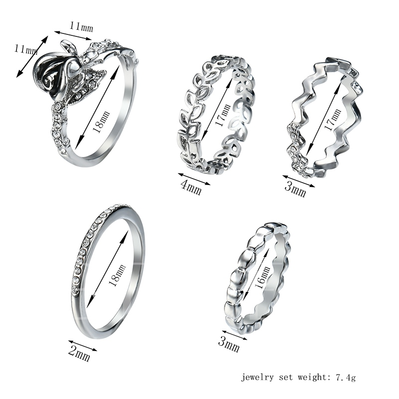 Hollow Out Alloy Knuckle Joint Ring