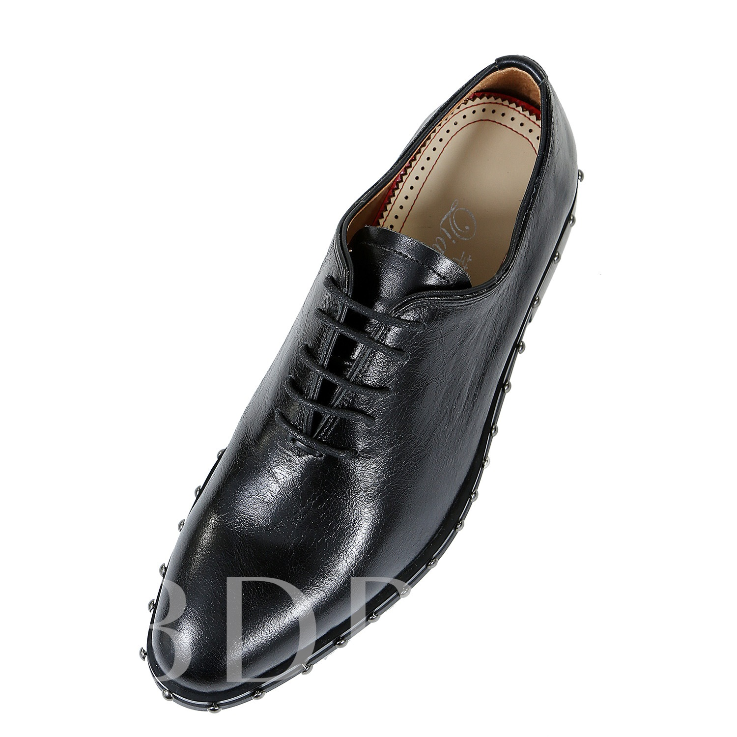 Black Leather Rivet Purfle Men's Dress Shoes Fashion Loafers