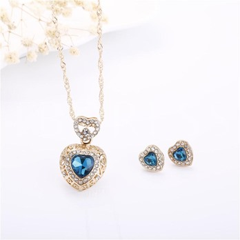 Alloy Synthetic Stones Heart Design Jewelry Sets