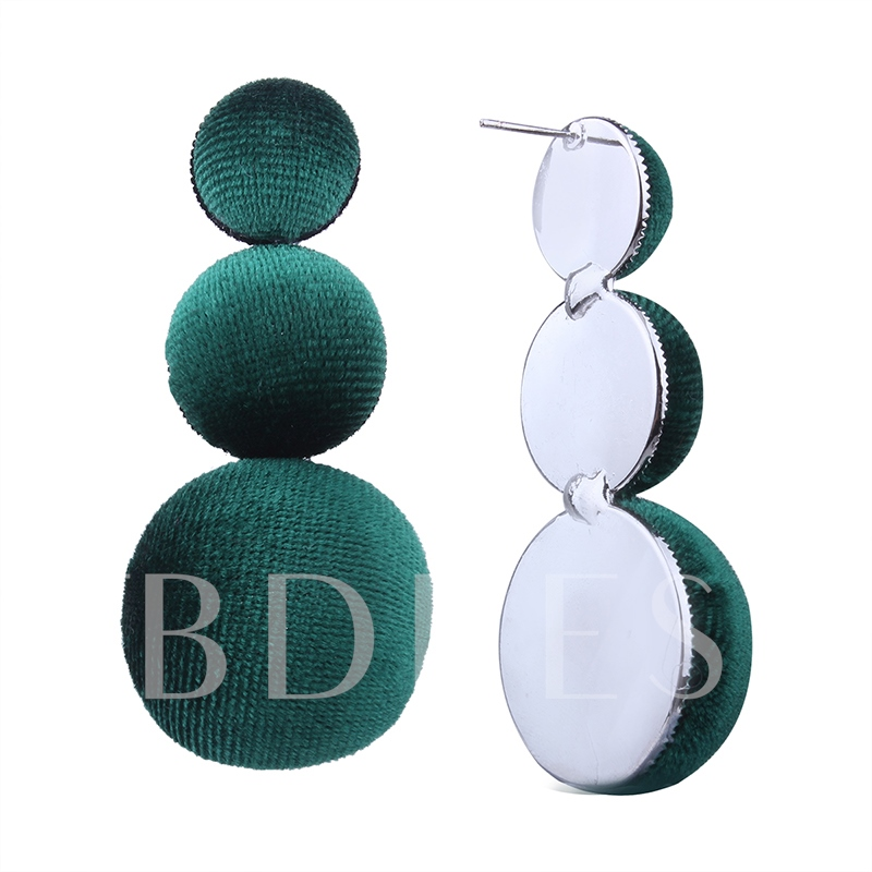Stainless Steel Flannel Polishing Plating Earrings