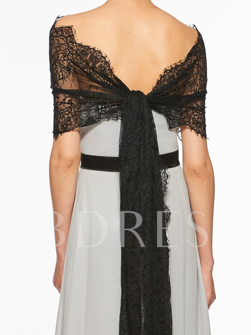 A-Line Mother of the Bride Dress with Lace Shawl