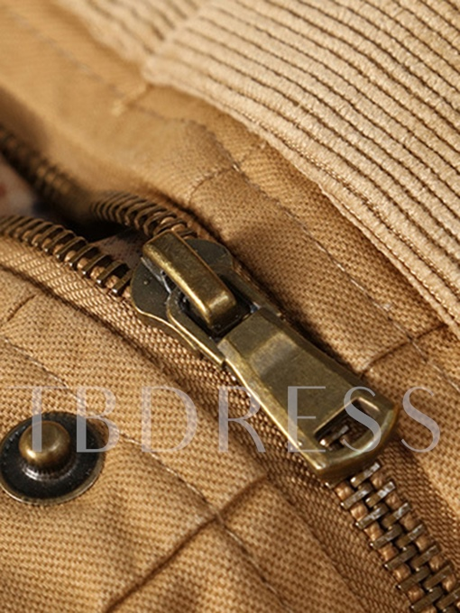 Hooded Lapel Zipper Lace-up Slim Warm Men's Casual Jacket