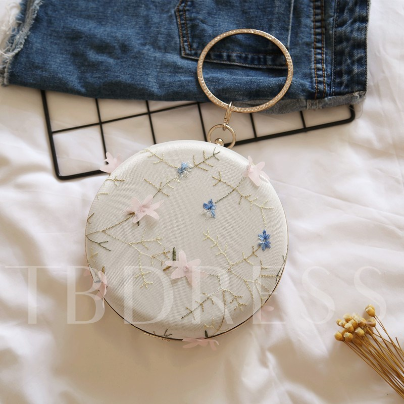 Elegant Floral Pattern Women Evening Clutch