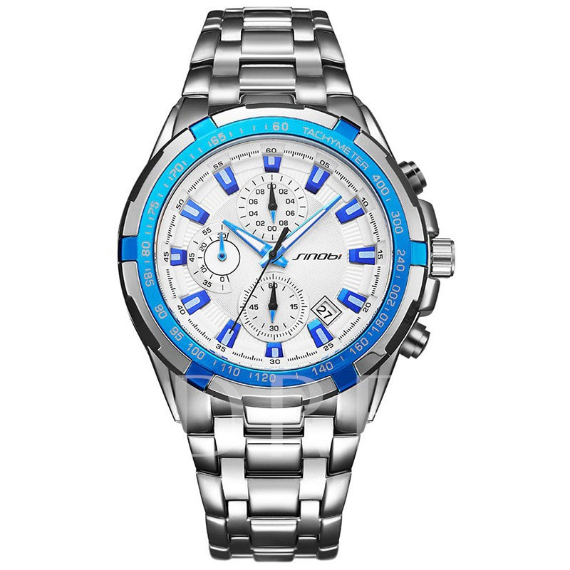 Quartz Alloy Water Resistant Glass Luminous Men's Watches