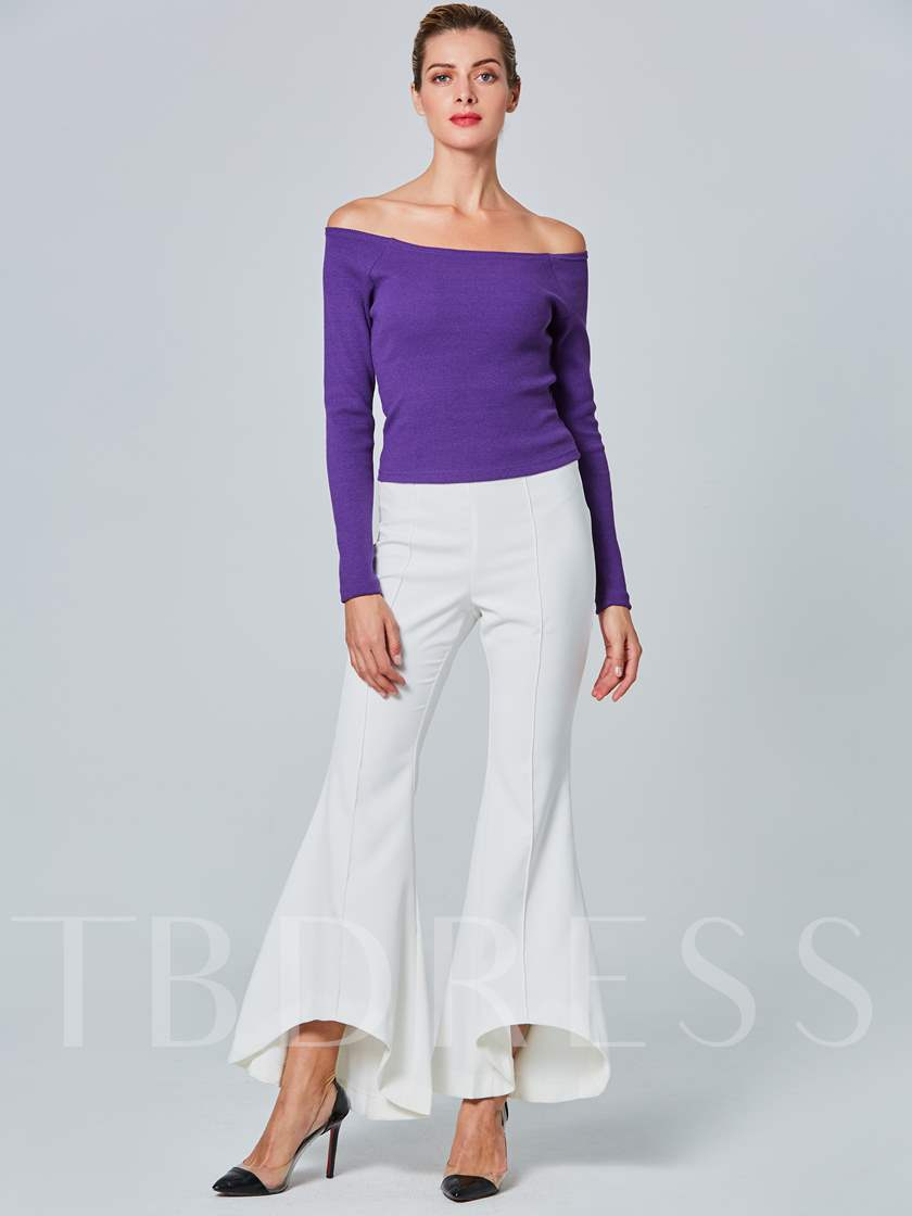 Sexy Off Shoulder Backless Women's Sweater