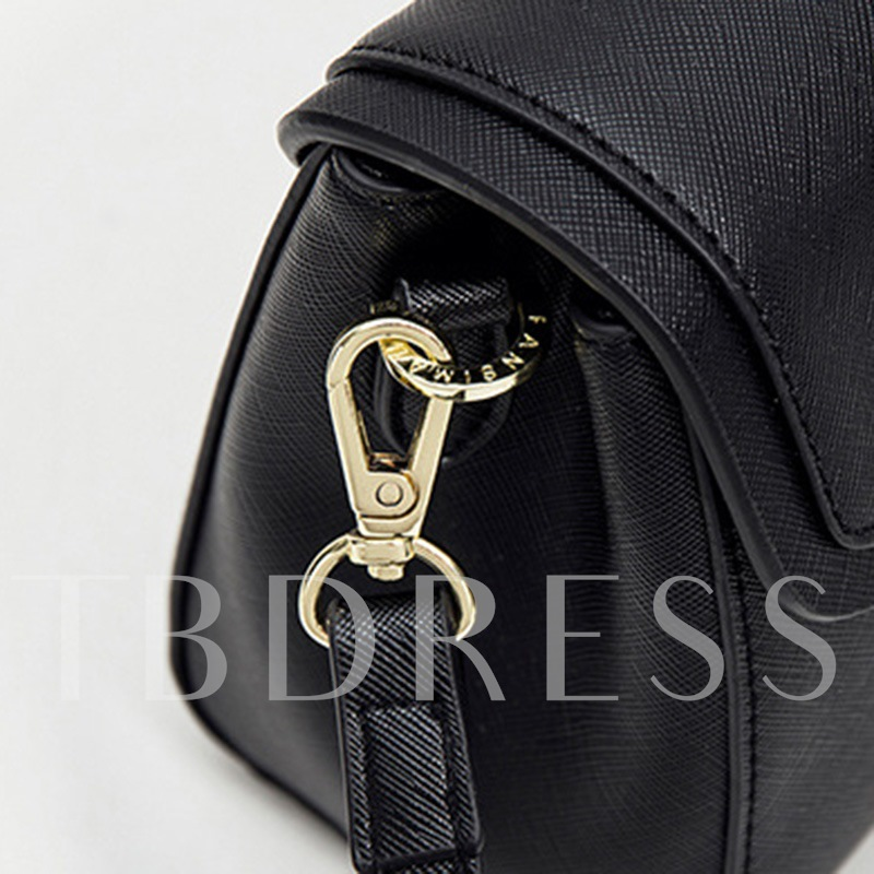 Solid Color Bullet Lock Decoration Women Tote