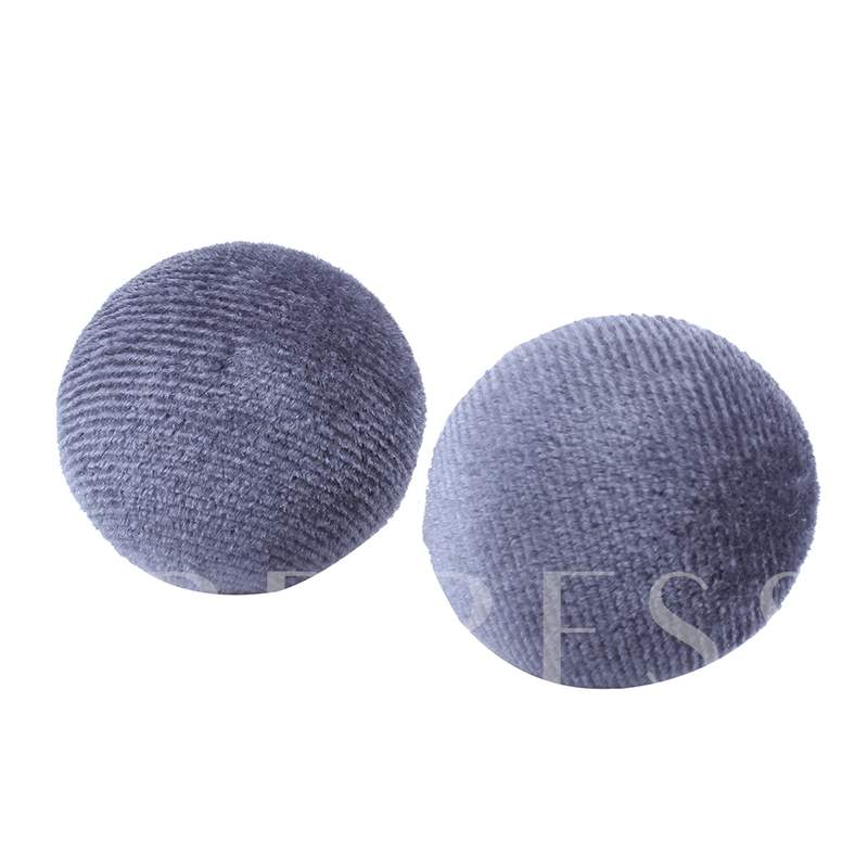 Solid Color Flannel Stainless Steel Polishing Earrings