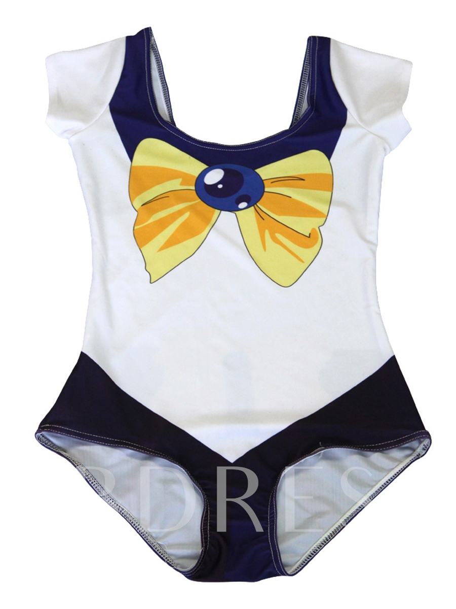 Halloween Lovely Sailor Moon Print One Piece Swimsuit
