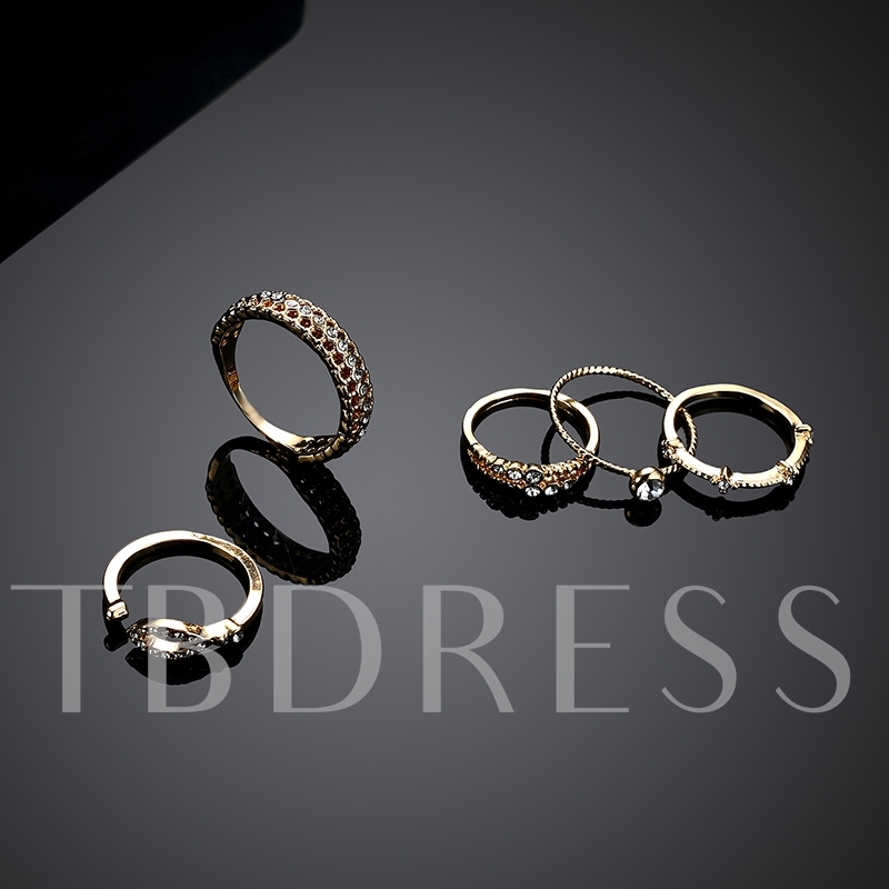 Gold Plated Hollow Out Joint Knuckle Ring