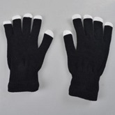 Black Luminous Masquerade Performance Halloween Gloves