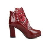 Back Zipper Lace Embroidery Women's Ankle Boots Wedding Shoes