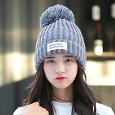 Crimping Thick Keep Warm  Color Blocking Hats