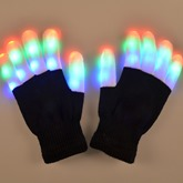 Colorful Knitted LED Luminous Masquerade Mask Halloween Gloves