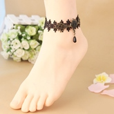 Gothic Lace Artificial Crystal Anklet