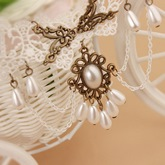 Mori Girl Hollow Out White Lace Anklet