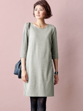 Gray Patchwork Women's Day Dress