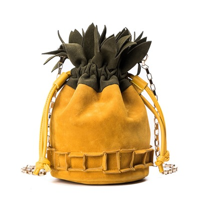 Distinctive Pineapple Shape Bucket Cross Body Bag
