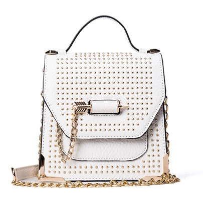 Korean Style Rivet Chain Cross Body Bag