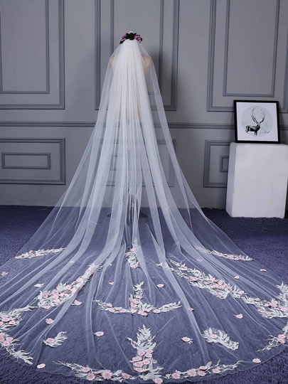 Cathedral Appliques Wedding Veil