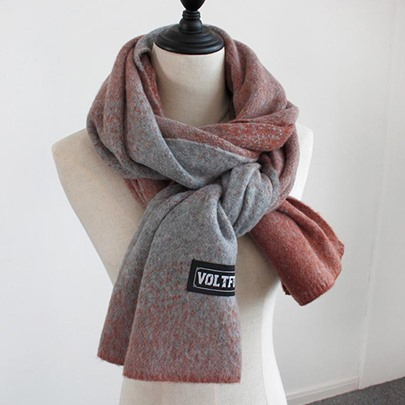 Gradient Color Woolen Yarn Soft Winter Scarfs