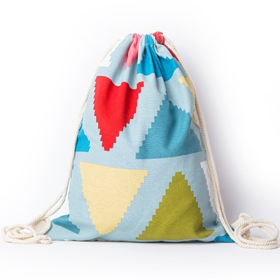 Casual Geometric Prints String Backpack