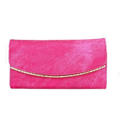 Solid Color PU Zipper Purse