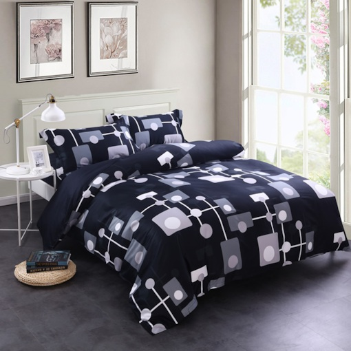 Geometric Point-Line-Surface Pattern Creative Design 4-Piece Cotton Bedding Sets