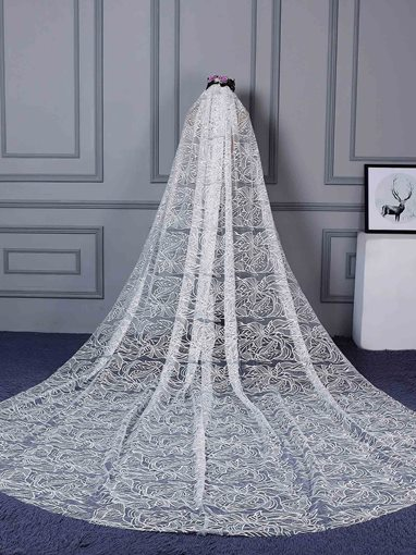 Cathedral Lace Bridal Veil