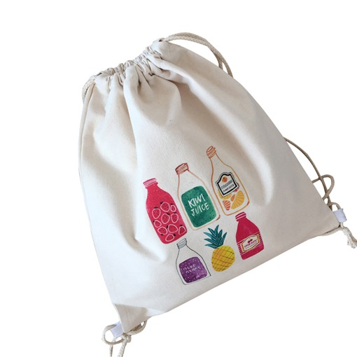 Comic Pattern Canvas String Backpack