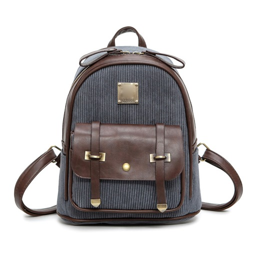 Korean Style Color Block Women Backpack