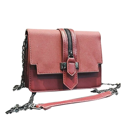 Trendy Zipper Design Chain Cross Body Bag