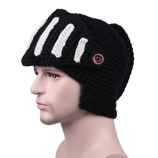 Rome Knight Wool Knitted Handmade European Men's Hats