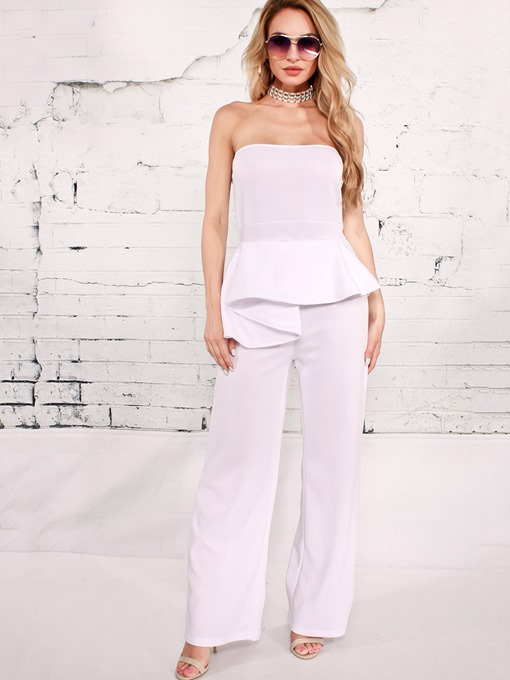 Slim Asymmetric Backless Women's Jumpsuits