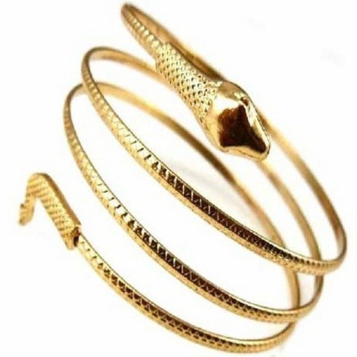 Unique Gold Alloy Snake Simple Bracelet