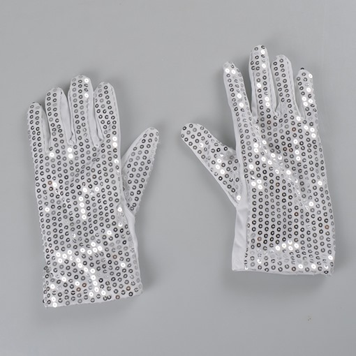 Cool Luminous Sequins LED Masquerade Halloween Gloves