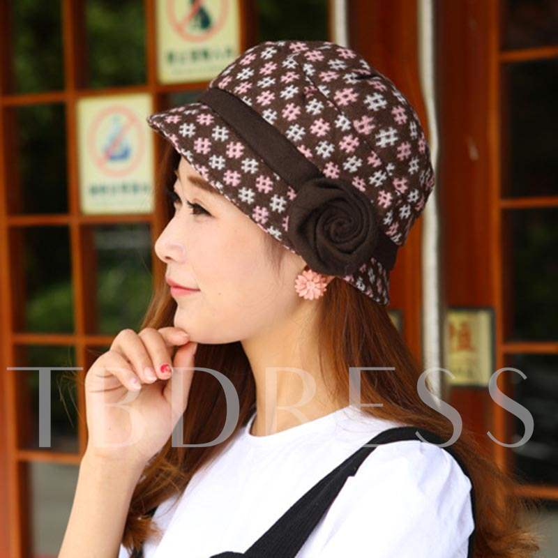 Rose Cotton Korean Style Bucket Hats
