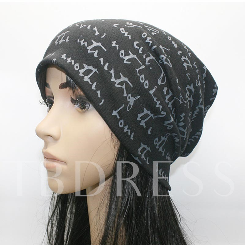 Hip Hop Letter Cotton Knitted Skullies & Beanies Hats