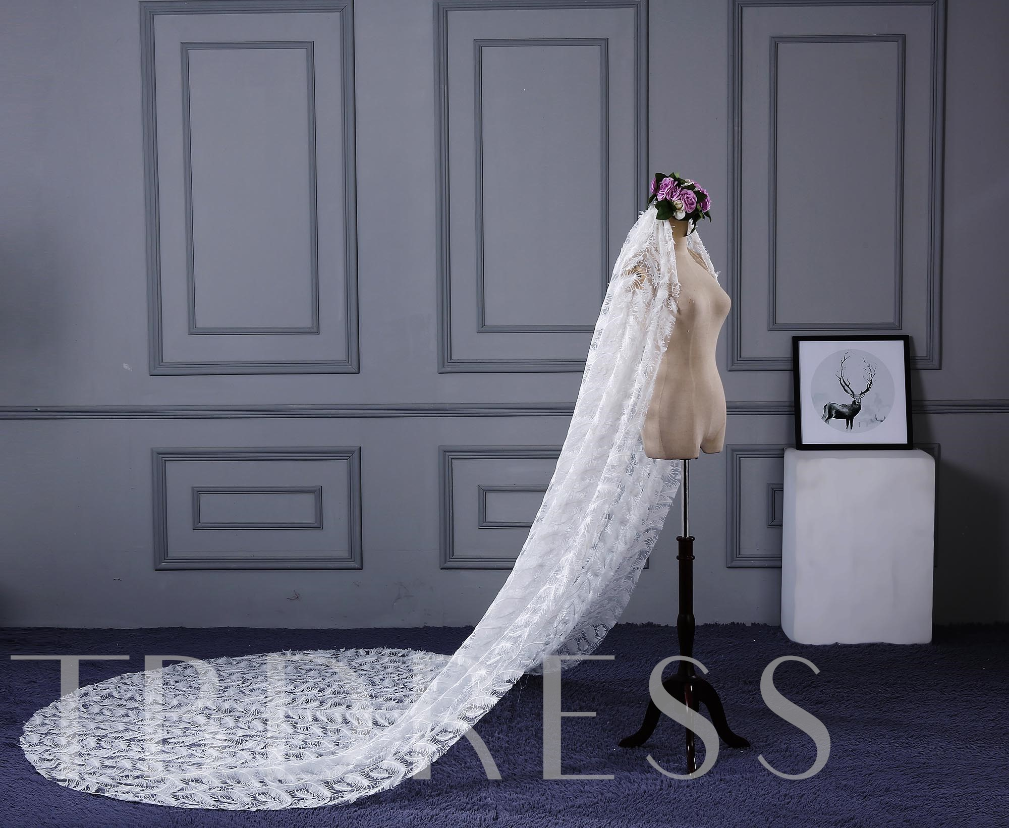 Lace Cathedral Wedding Veil