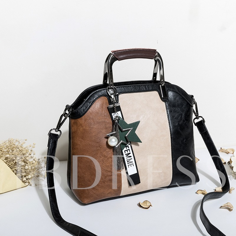 Casual Stripe Pattern Women Satchel