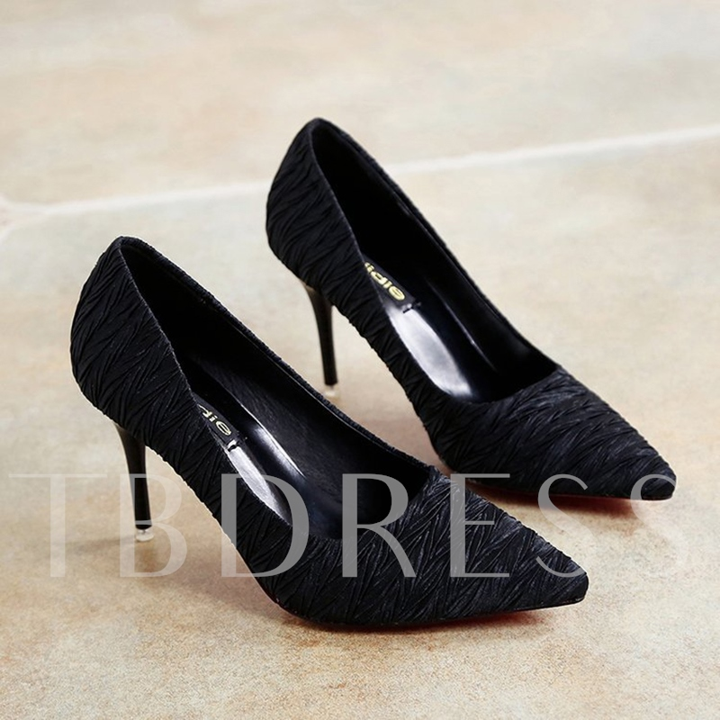 Winkle Cloth Women's High Heel Pumps