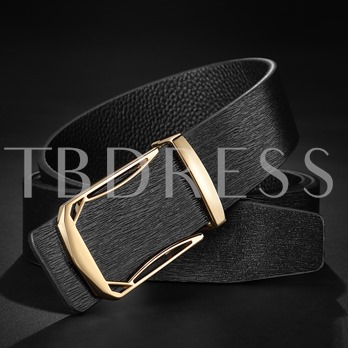 Alloy Split Cowhide Artificial Embossed Leather Men's Belts