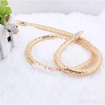 Hot Sale Diamante Long Chain Snake Eyes Jewelry Necklace